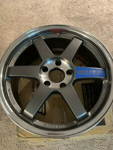 Volk Te37sl 18x8 5 35 5x120 Single Wheel