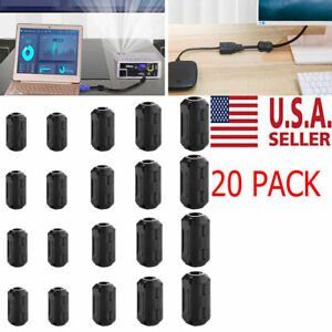 20x Cable Clips Clip on Ferrite Ring Core Emi Rfi Noise Suppressor Filter Beads