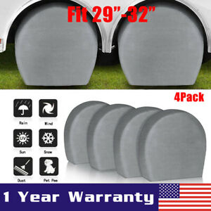 4pcs Heavy Duty Rv Car Wheel Tire Covers For Truck Trailer Camper 29 To 32