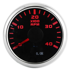 Digital Tachometer Gauge 52mm 4k Rpm Lcd Hour Display Meter For Car Motorcycle