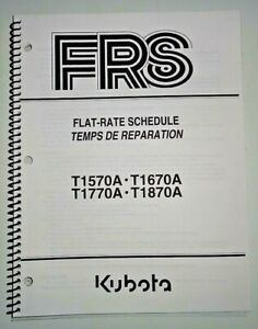 Kubota T1570a T1670a T1770a T1870a Lawn Garden Tractor Flat Rate Manual Oem 9 04