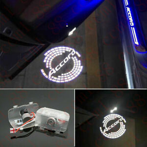 2 White Accord Logo Led Laser Door Projector Light For Honda Accord 2013 2020
