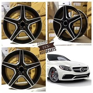 New 17 Amg Alloy Wheels Rims Fits Mercedes Benz Set 4 E Class C Class Sl Class