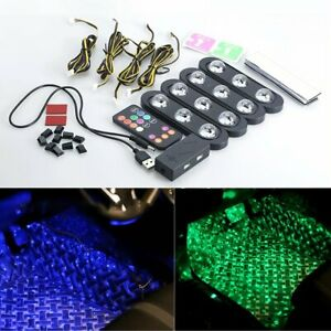 Usb Car Interior Foot Laser Atmosphere Lamp Led Colorful Music Control Decor Kit
