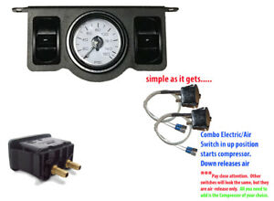 V Electric Air Ride Suspension Air Bag Paddle Valve W Electric Switch And Gauge