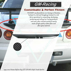 Fiber Glass Mi S Style Trunk Spoiler For 1999 2002 Nissan Skyline R34 Gtt Gtr