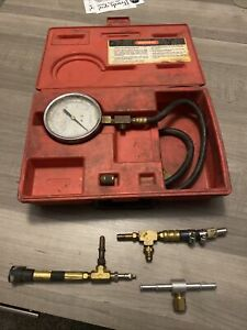 Snap On Tools Usa Mt337a Fuel Injection Pressure Gauge Set With Accessories
