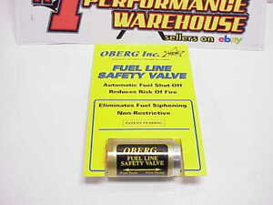 New Oberg Fuel Line Safety Valve Automatic Fuel Shut off 10038 Nascar