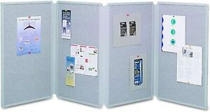 Quartet Tabletop Display Presentation Board 72 X 30 Gray Felt Surface And Frame