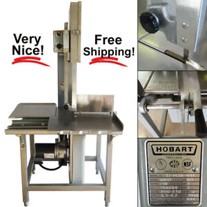 Hobart 6801 142 Vertical Meat Band Saw W Blade 3hp 200 230v 60hz 3 phase