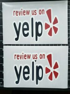 Yelp Business Review Color Stickers Pack Of 2 Stickers