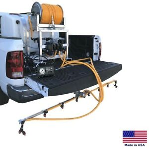 De icer Sprayer Commercial Skid Mounted 200 Gallon Tank 6 Ft Boom