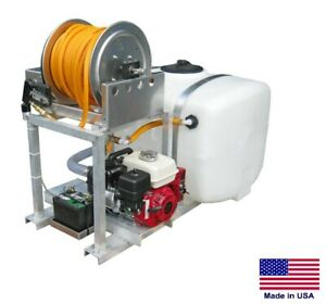 De icer Commercial Skid Mounted 100 Gallon Tank Poly Pump For Salt Brine