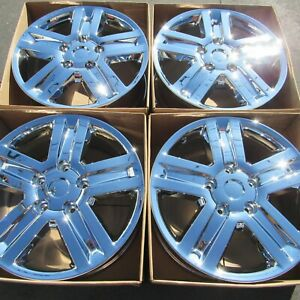Set Of 4 Chrome Wheels Original Toyota Tundra Oem 20 Rims