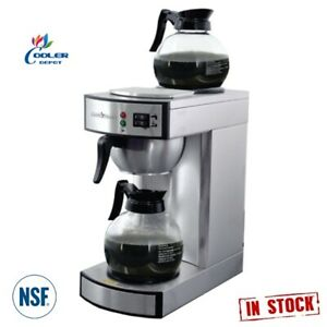 New Commercial Electric Coffee Maker Machine Stainless Brewer Cafe Office Nsf