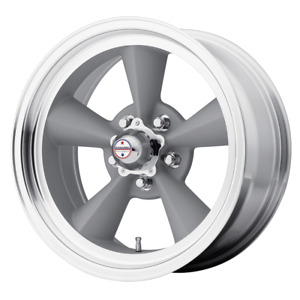 17x8 American Racing Vn309 Vintage Silver Wheels 5x4 5 0mm Set Of 4