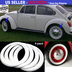 15 Inch Rims 3 Inch Wide White Wall Rubber Tire Ring Set Of 4 Pcs Easy Assembly