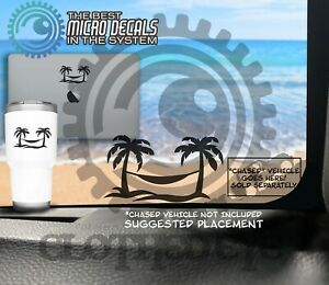 Beach Dreams Hammock And Palm Trees Decal Sticker For Jeep Wrangler Or Gladiator