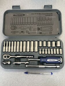 Blue point Bluepoint Blpatsm1429 As Sold By Snapon 29 Pce 1 4 Metric Socket Set