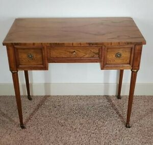 Rare Baker Milling Road Regency Writing Desk On Casters Showroom Condition
