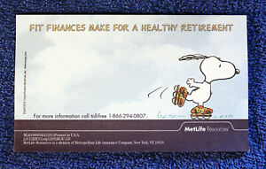 Lot Of Metlife Snoopy Post it Notes Fit Finances Make For A Healthy Retirement