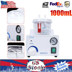 Portable Dental Medical Emergency Vacuum Phlegm Suction Unit Electric 1000ml Us