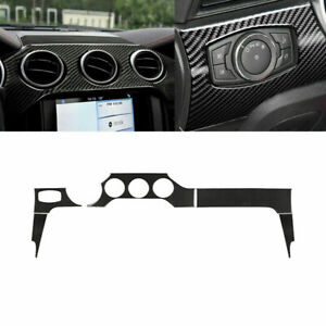 Carbon Fiber Interior Dashboard Panel Cover Trim Fit For Ford Mustang 2015 2019