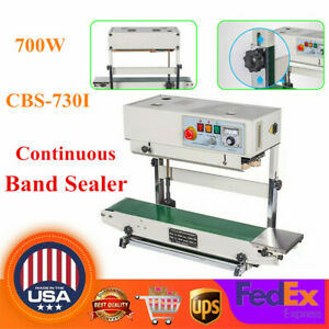 Vertical Plastic Bag Band Sealing Machine Continuous Automatic Sealer 110v 700w