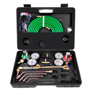 Gas Welding Cutting Kit Set Oxy Acetylene Oxygen Torch Brazing Fits Victor