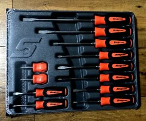 New Snap on Orange Sgdx120bo 12 Piece Soft Grip Combination Screwdriver