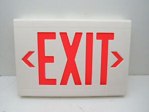 Hubbell Dual Lite Lxurw Thermoplastic Led Exit Sign 120 277vac Red Letters