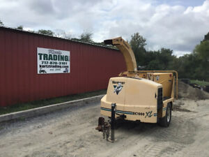 2008 Vermeer Bc1000xl 12 Diesel Towable Chipper Only 2100hrs