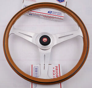 Jaguar Nardi Vintage Wood Steering Wheel Made In Italy