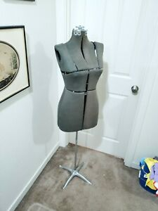 antique 1930s Metal Adjustable Dress Form Mannequin W Metal Stand