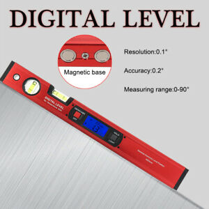 Digital Protractor Spirit Level Angle Finder Inclinometer High Precision Bubbles