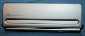 Vintage Franklin Covey Classic Planner Binder 7 hole Page Punch 8 5 X 5 5