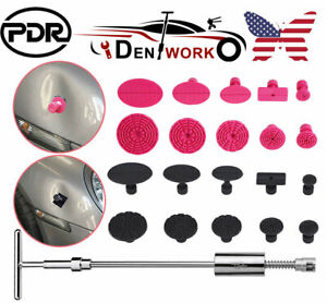 Us Pdr Car Paintless Dent Repair Tools Puller T Bar Removal Kit Glue Puller Tabs