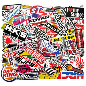 100pcs Jdm Stickers Pack Motorcycle Car Racing Motocross Helmet Graffiti Decals
