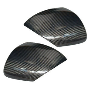 Pair Side Wing Door Mirror Cover Cap Fit For Mazda 3 Speed3 2010 2013 Durable