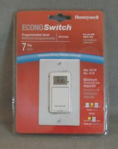 Honeywell Econo Switch 7 Day Programmable Timer Rpls530a New