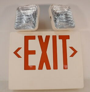 Emergency Exit Hanging Sign With Backup Battery Emergency Running Lights New