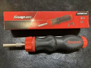 Snap on Tools 5 position Soft Grip Ratcheting Screwdriver Sgdmrce44 Red New