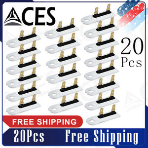 20pcs 3392519 Dryer Thermal Fuse Replacement Part For Whirlpool And Kenmore New