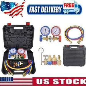 4 Way Diagnostic Manifold Gauge Set R410 R22 R134a Professional Ac Hvac Tool Kit