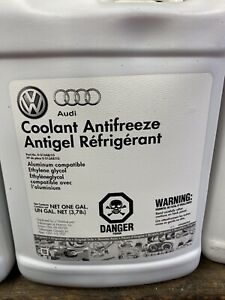 G013a8j1g 1 Gallon Coolant Vw Audi Oem New Unopened G12 G13 Concentrate