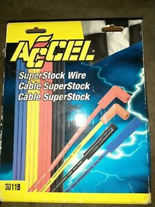 Accel Superstock 3000 Series Wire 3011b Spark Plug Wires Set New