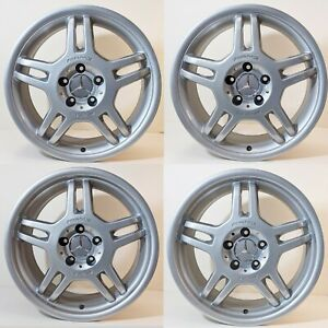 Mercedes Set Amg Slk32 C32 Slk320 Slk230 Wheels Rims 17 1704012002 1704012102