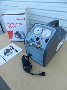 Robinair Rg6 Portable Single Refrigerant Recovery Machine R134
