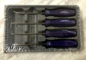 New Snap On Dark Purple 4 Piece Mini Pick Set Asa204bdp Hard Handle