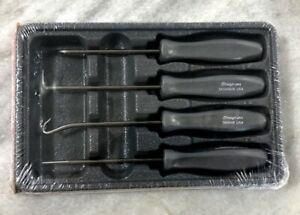 New Snap On Dark Titanium 4 Piece Mini Pick Set Asa204bdt Hard Handle